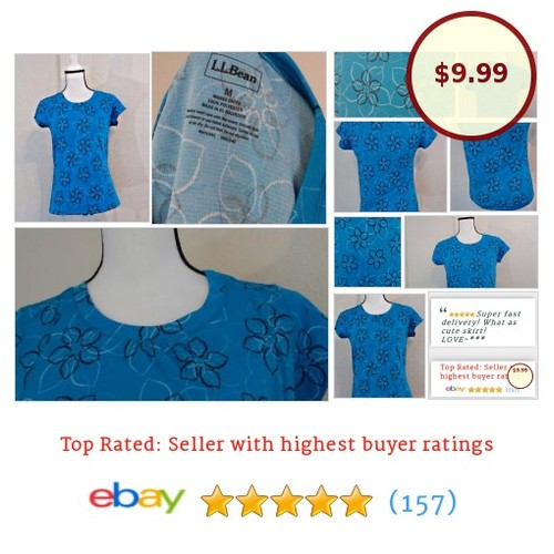 L.L. Bean womens shirt size M crew neck floral spring top polyester blue t-shirt | eBay #Top #LLBean #TShirt #etsy #PromoteEbay #PictureVideo @SharePicVideo