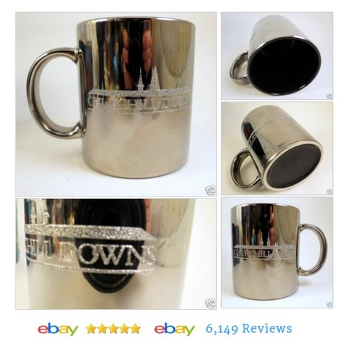 CHURCHILL DOWNS Kentucky Derby Mug Horse Double Steeples Coffe Silver #Souvenir #HorseRacing #etsy #PromoteEbay #PictureVideo @SharePicVideo