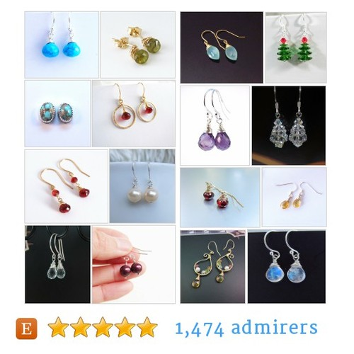 Earrings -with Gemstones #etsy shop #earringswithgemstone @purplepoemcraft  #etsy #PromoteEtsy #PictureVideo @SharePicVideo