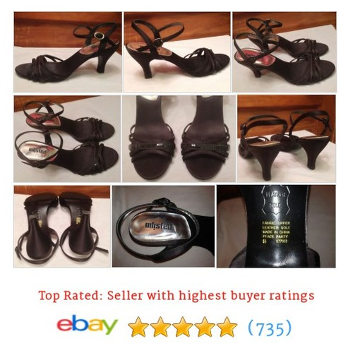 Kenneth Cole Unlisted Black 9 1/2 M Strappy Slingbacks Shoes Ankle #ebay @jrooski42  #etsy #PromoteEbay #PictureVideo @SharePicVideo