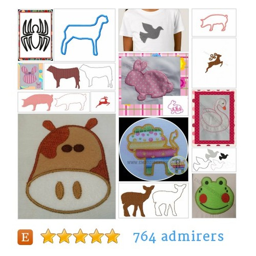 ANIMAL/CREATURE DESIGNS #etsy shop #animal #creaturedesign @embroiderybys  #etsy #PromoteEtsy #PictureVideo @SharePicVideo