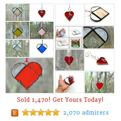 Heart Glass Suncatchers Etsy shop #etsy @stndglass https://www.SharePicVideo.com/?ref=PostPicVideoToTwitter-stndglass #etsy #PromoteEtsy #PictureVideo @SharePicVideo
