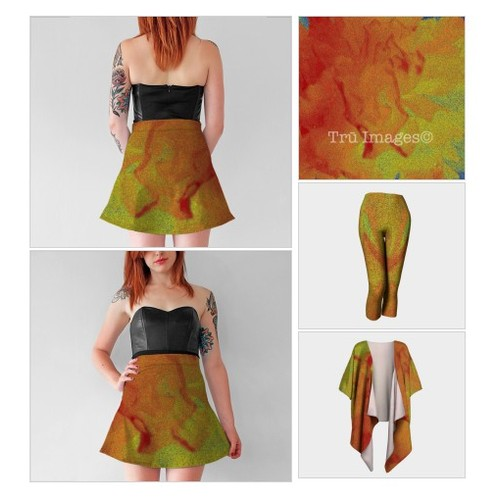 Abstract Flower Flare Skirt @trumyiz  #shopify #PromoteStore #PictureVideo @SharePicVideo