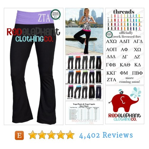 Zeta Tau Alpha Yoga Pants, Personalized #etsy @redelephants  #etsy #PromoteEtsy #PictureVideo @SharePicVideo