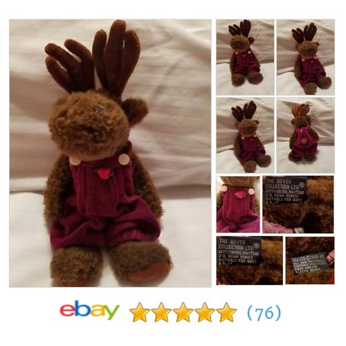 The Boyds Bear Collection Plush Moose J.B Bean Series 1985-95 Stuffed #ebay @jswehstaci  #etsy #PromoteEbay #PictureVideo @SharePicVideo