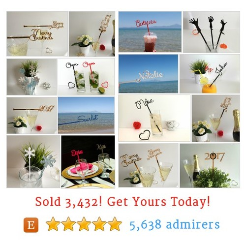 Drink Stirrers Etsy shop #etsy @iliana_fran  #etsy #PromoteEtsy #PictureVideo @SharePicVideo