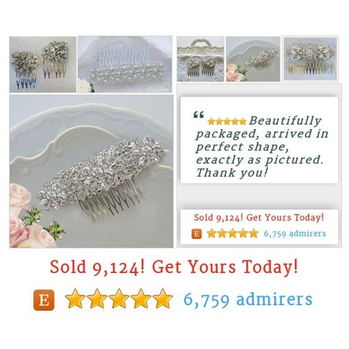 #WeddingHair #Bridal, Bridesmaid Jewelry & Hair Accessories by MissJoansBridal Etsy shop  #etsy #PromoteEtsy #PictureVideo @SharePicVideo