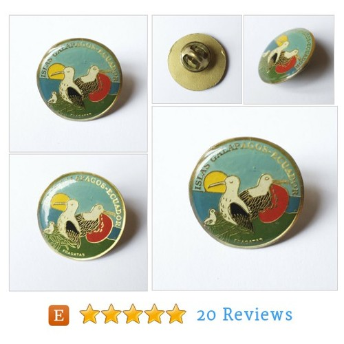 Vintage Galapagos and Ecuador tourist pin #etsy @myriadlife  #etsy #PromoteEtsy #PictureVideo @SharePicVideo