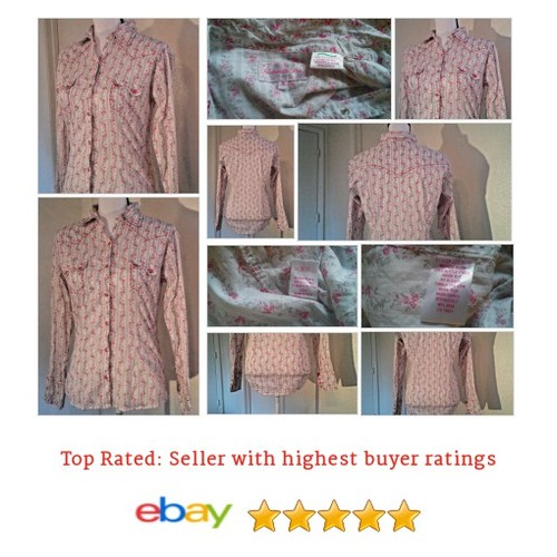 Panhandle Slim Women's Shirt Size Small S 100% Cotton Snap Front Button Flirt | eBay #Top #Blouse #Western #etsy #PromoteEbay #PictureVideo @SharePicVideo