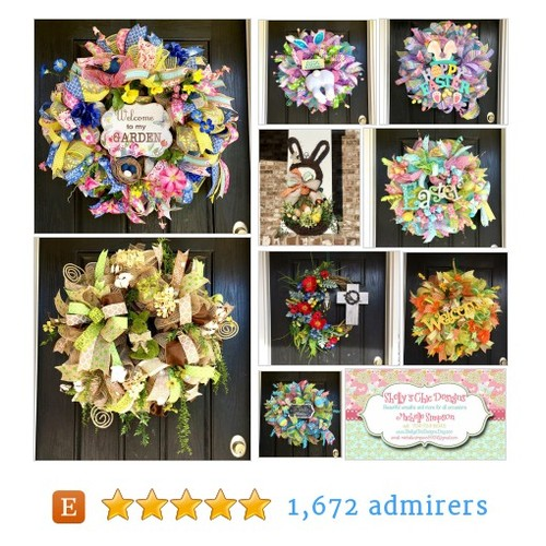 Where fun and whimsical wreaths are designed. by ShellysChicDesigns Etsy shop @simpson5921 #etsy #PromoteEtsy #PictureVideo @SharePicVideo