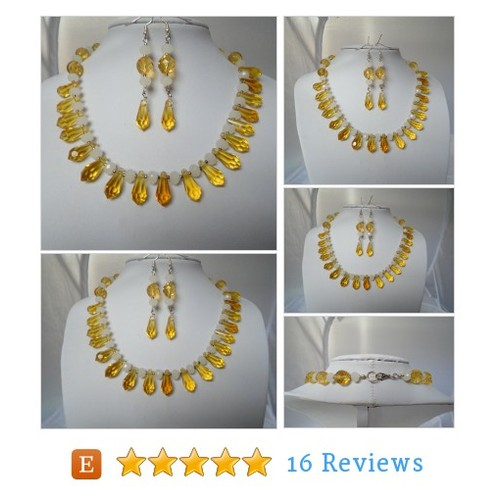 Handmade Yellow and White Czech Crystal #etsy @k8tiesparkles  #etsy #PromoteEtsy #PictureVideo @SharePicVideo
