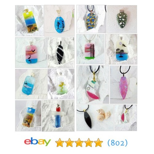Fused Glass Pendants Items in Lolas Glass Pendants store #ebay @elvisotisc  #ebay #PromoteEbay #PictureVideo @SharePicVideo