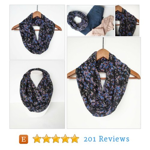 Infinity Scarf, Floral Scarf, Purple Scarf, #etsy @fashionellest  #etsy #PromoteEtsy #PictureVideo @SharePicVideo
