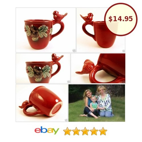 3D Cardinal Bird Mug Cup with Pine Cones and Branches Coffee Tea Christmas Gift | eBay  #etsy #PromoteEbay #PictureVideo @SharePicVideo