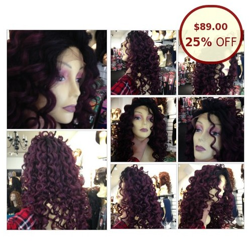 Curls ombre plum burgundy long black roots @wigstessbeauty https://www.SharePicVideo.com/?ref=PostPicVideoToTwitter-wigstessbeauty #socialselling #PromoteStore #PictureVideo @SharePicVideo