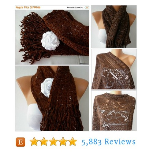 ON SALE --- Coffee Velvet Scarf,Fall Winter #etsy @anilsshop  #etsy #PromoteEtsy #PictureVideo @SharePicVideo