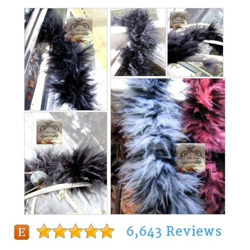 Marabou Boa Feathers Black Small Short #etsy @jammertail  #etsy #PromoteEtsy #PictureVideo @SharePicVideo