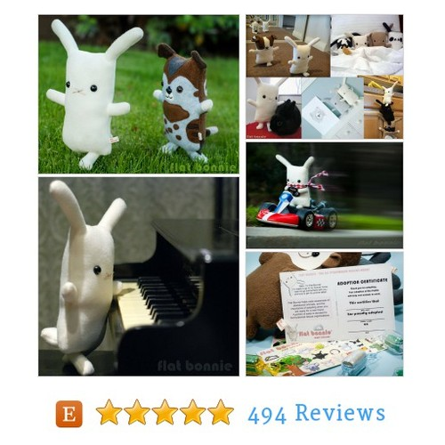 Stuffed bunny plush, Rabbit stuffed animal, #etsy @flatbonnie https://www.SharePicVideo.com/?ref=PostPicVideoToTwitter-flatbonnie #etsy #PromoteEtsy #PictureVideo @SharePicVideo