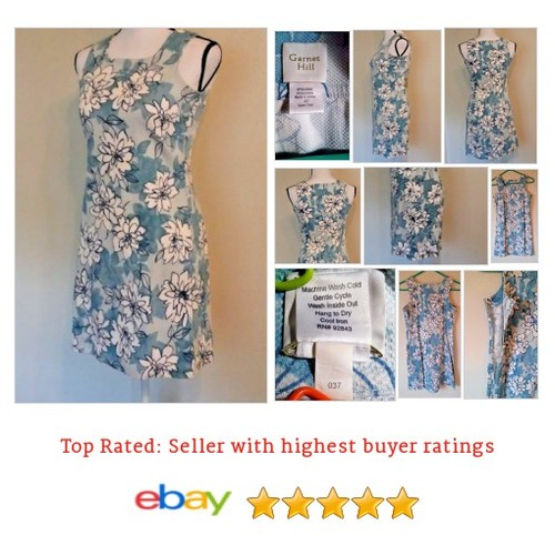 Garnet Hill Women's #Dress Size S Small Blue with White Flower Peonies Spring Fun | eBay #GarnetHill #SummerDres #etsy #PromoteEbay #PictureVideo @SharePicVideo