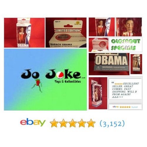 BARACK OBAMA-LIMITED ED OF 3000-NUMBERED--GOLD SUIT JAILHOUSE TOYS-2008 RARE-NEW! | eBay #JAILHOUSETOY #etsy #PromoteEbay #PictureVideo @SharePicVideo