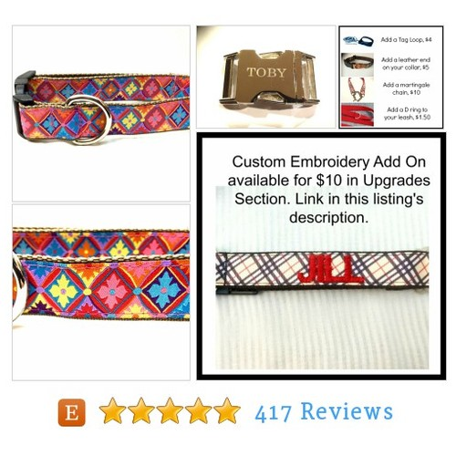 Colorful Diamonds Dog Collar, Leash or Step #etsy @french_louie  #etsy #PromoteEtsy #PictureVideo @SharePicVideo