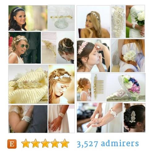 Handmade Bridal Accessories by Carellya by carellya Etsy shop #etsy #PromoteEtsy #PictureVideo @SharePicVideo