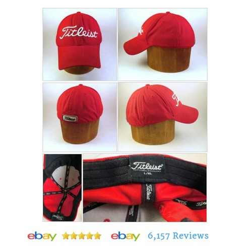 CHERRY RED TITLEIST Red Slideback Low Profile Golf #Hat Cap #Titleist #BaseballCap #etsy #PromoteEbay #PictureVideo @SharePicVideo