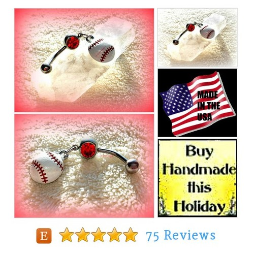 Belly Ring Baseball #etsy @queenbohemian  #etsy #PromoteEtsy #PictureVideo @SharePicVideo