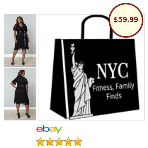 🎉#PlusSize black lace party dress has a detachable belt & pin. Sleeves drape a bit for a nice fit.🎉 #LBD #etsy #PromoteEbay #PictureVideo @SharePicVideo