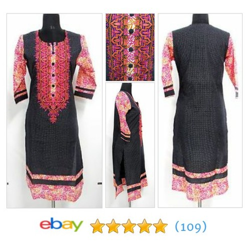 ethnic dotted kurta kurti #tunic embroidered Bollywood top #sellonebay #ebay @ganeshhodkasya  #etsy #PromoteEbay #PictureVideo @SharePicVideo