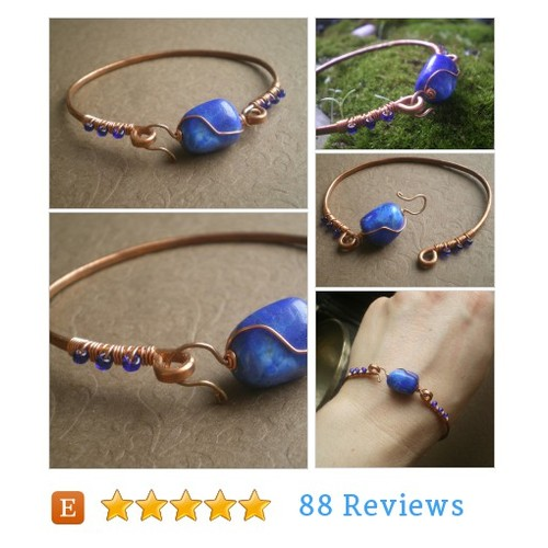 Blue Lapis Hammered Copper #Jewelry #Bracelet @ivytalaga  #etsy #PromoteEtsy #PictureVideo @SharePicVideo