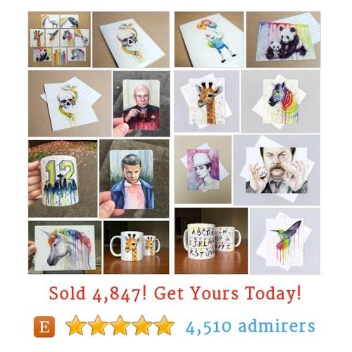 Cards, Stickers, Mugs Etsy shop #etsy @olechkaart  #etsy #PromoteEtsy #PictureVideo @SharePicVideo