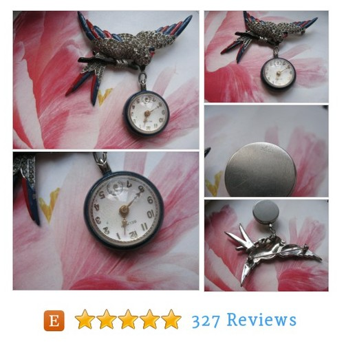 Enameled Bird Pendant Watch Pin ,Circa #etsy @andontowillow https://www.SharePicVideo.com/?ref=PostPicVideoToTwitter-andontowillow #etsy #PromoteEtsy #PictureVideo @SharePicVideo
