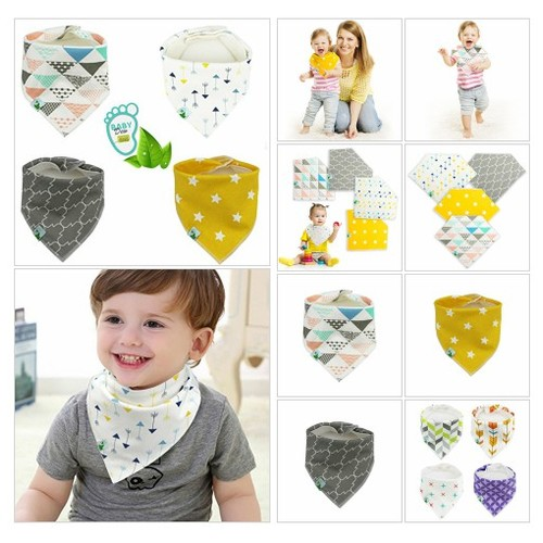 # 4 Pack #Cute #Bib with #Snaps - #Best for #Babies #Drooling, #Teething and #Feeding #socialselling #PromoteStore #PictureVideo @SharePicVideo