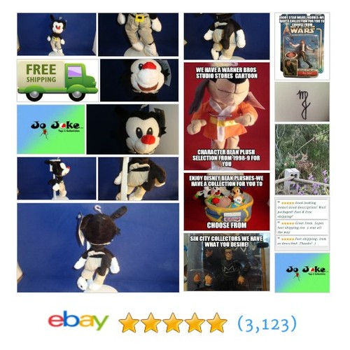 WARNER BROS STUDIO STORE-ANIMANICS-YAKKO-BEAN PLUSH-UNIQUE-RARE-NEW/TAGS-COOL! | eBay #WARNERBROSSTUDIOSTORE FREE SHIPPING #etsy #PromoteEbay #PictureVideo @SharePicVideo