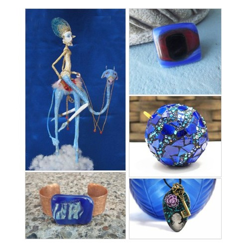 Make it Blue!  Beautiful home decor and jewelry items.  Helping make your House a Home by PiecesofhomeMosaics Etsy shop  #etsyspecialt  #SpecialTGIF      @SympathyRTs @SGH_RTs  @iPromotable #homedecor #jewelry #fusedglass #Bracelets #earrings #etsy #PromoteEtsy #PictureVideo @SharePicVideo