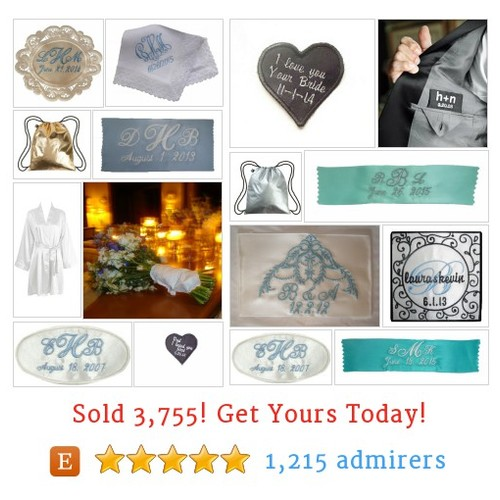 Embroidered Wedding Etsy shop #embroideredwedding #etsy @initialimpress  #etsy #PromoteEtsy #PictureVideo @SharePicVideo