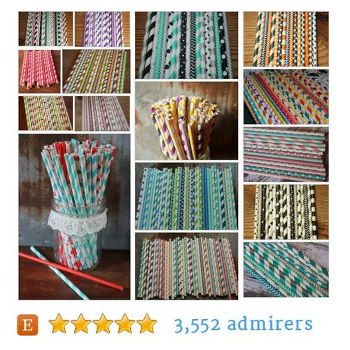 Paper Straws #etsy shop #paperstraw @spiral_sage  #etsy #PromoteEtsy #PictureVideo @SharePicVideo