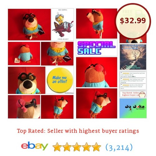 WARNER BROS STUDIO STORE-MOROCCO MOLE-BEAN PLUSH-HANNA BARBERA-NEW/TAGS-COOL! | eBay #WARNERBROSSTUDIOSTORE #etsy #PromoteEbay #PictureVideo @SharePicVideo