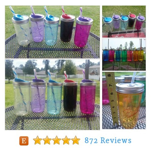 Ball MASON JAR Sippy Tumbler - Glass - - #etsy #PromoteEtsy #PictureVideo @SharePicVideo