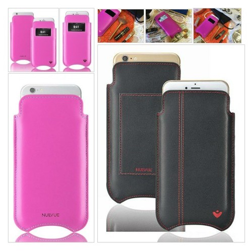 Pink Real Leather Built-in Screen Cleaning Technology iPhone 7 pouch case. #socialselling #PromoteStore #PictureVideo @SharePicVideo