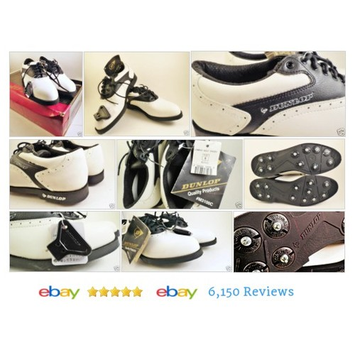 DUNLOP Womens Golf Saddle Shoes Size 8 Black White New in Box #Dunlop #GolfShoe #Athletic #etsy #PromoteEbay #PictureVideo @SharePicVideo