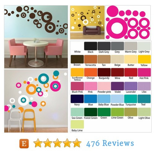 Ring Decals, Shapes Murals, Ring and Dots #etsy @primedecals  #etsy #PromoteEtsy #PictureVideo @SharePicVideo