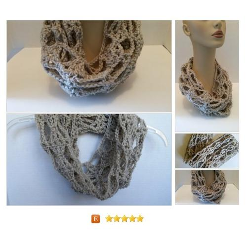 #Scarf Infinity Cowl Crocheted #Wrap #Accessory www.softtotouch.info #etsy #PromoteEtsy #PictureVideo @SharePicVideo