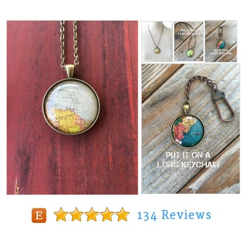 Venezuela Globe Necklace Map World Travel #etsy @indust_whimsy  #etsy #PromoteEtsy #PictureVideo @SharePicVideo