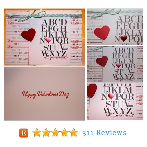 Valentine Card, Will You Be Mine Valentine #etsy @lahockeygirl https://www.SharePicVideo.com/?ref=PostPicVideoToTwitter-lahockeygirl #etsy #PromoteEtsy #PictureVideo @SharePicVideo