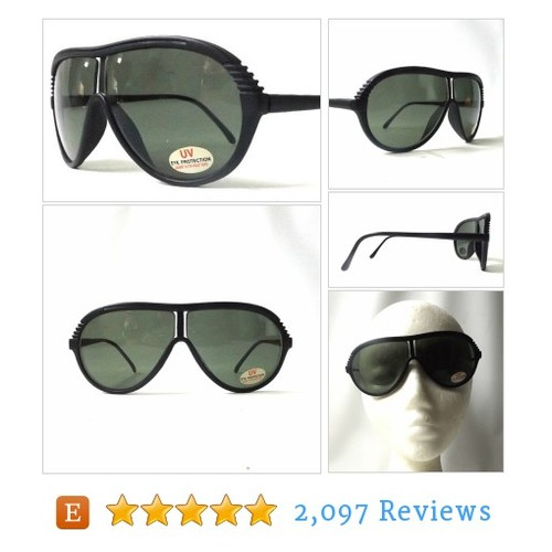 vintage 1980's NOS aviator sunglasses black #etsy @buyvintage  #etsy #PromoteEtsy #PictureVideo @SharePicVideo