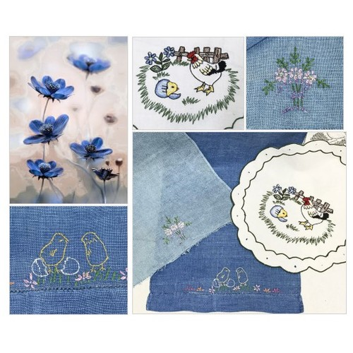 Easter Linens Vintage Embroidered Linens for Easter Basket Blue Scarf Embroidery Baby Chicks Chickens Linen Collection #etsyspecialt #integritytt #SpecialTGIF #Specialtoo  #TMTinsta     @SaucyRTs    @DestelloRTs  @YTGRTs @FatalRTs  #StreamShare #etsy #PromoteEtsy #PictureVideo @SharePicVideo