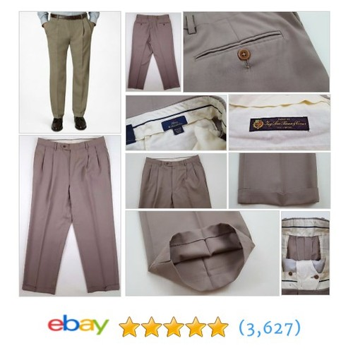 BROOKS Brothers MADISON Pants 33 29 BEIGE Mens LORO Piana WOOL #ebay @curatedclothier  #etsy #PromoteEbay #PictureVideo @SharePicVideo