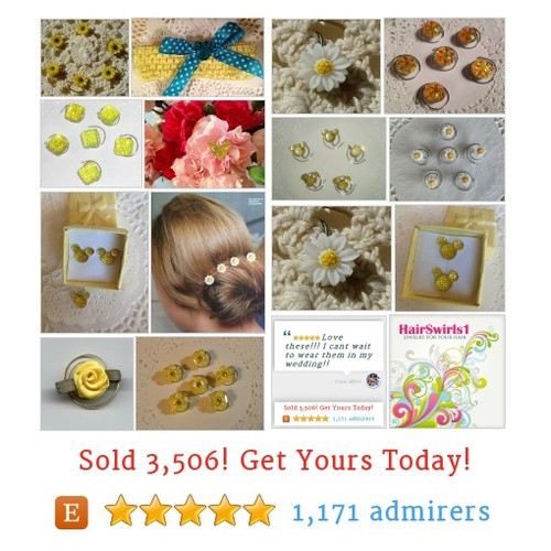 JEWELRY FOR YOUR HAIR by HairSwirls1 Etsy shop Something #Yellow for your #EasterBasket #etsy #PromoteEtsy #PictureVideo @SharePicVideo